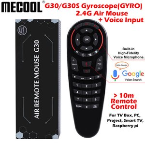 Controls Mecool G30 S 33 keys IR learning control 2.4g air mouse wireless voice air mouse Gyro Sensing Smart remote