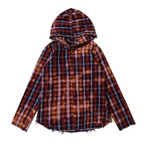 19 Men's Designer Shirt Casual Hooded Jacket V China Dragon LONE Joint Name Rendering Plaid Shirt Men Shirts