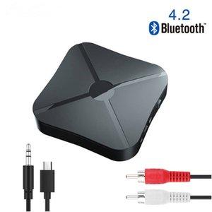 2 en 1 Bluetooth 4.2 Émetteur-récepteur avec câble audio RCA musique Stereo adaptateurs sans fil pour voiture TV Téléphones PC MP3