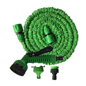 Expandable Garden Hose Flexible Water Equipments 50FT for Car Pipe Watering With Spray Gun 15M Retail Package