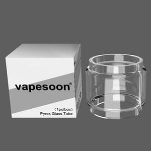 Otantik VapeSoon Kabarcık Değiştirme Dışbükey Cam Tüp OBS küp TPD Için 2 ml VECO solo artı / VECO artı wotofo yükseltmek