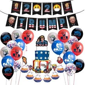 Trumpf Thema-Partei Dekoration Trumpf Fahnen ziehen Kuchen Karte-einsetzender Parodie Ballon-Set liefert Trumpf Partei