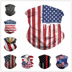 3D American National Bayrak Yüz Nefes Yeniden Yüz Shield Ağız-mufla Bantlar Veil Eşarp Bisiklet Fonksiyonlu Kapak D52707 Maske