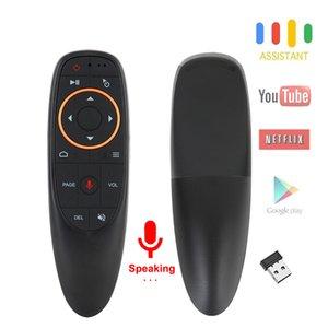 G10S Voice Air Mouse مع ميكروفون USB 2.4 جيجا هرتز لاسلكي 6 محور جيروسكوب الأشعة تحت الحمراء للتحكم عن بعد لالروبوت مربع التلفزيون ، أجهزة الكمبيوتر المحمول