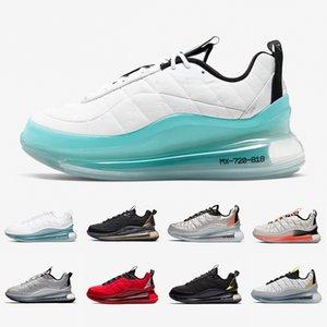 Nike air max 720-818 Stock X Volt Black Magma 720-818 Mens Running shoes Metallic Silver Bullet Clean White Aqua CNY 720s Men Women Sports Designer sneakers