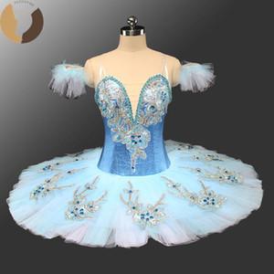 FLTOTURE CT9142 Adulto Ballet Blue Bird Tutu Trajes Meninas Classical azul saia tutu Criança Custom Made Bela Adormecida Tutus