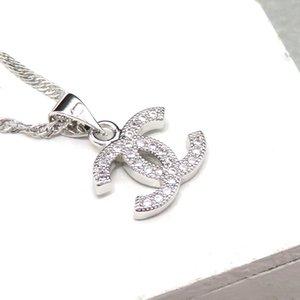 Top Mode-Anhänger Designer-Halskette Brief Frauen Halsketten-Kristall-Diamant-Clavicleweinlesehalskette Luxurys Halsketten-Dame Jewelry Geschenk beste Qualität