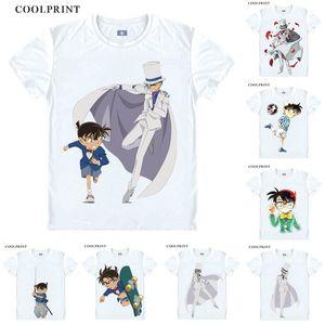 Detective Conan Edogawa shirt Aoyama Goushou Meitantei Conan del Anime Cosplay personalizzato Tank Top maniche corte Vintage stampato Moda