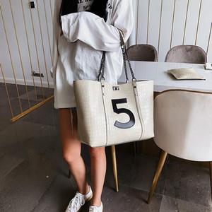 2019 Nueva cocodrilo PU hombro bolsas de cuero para las mujeres de lujo de alta calidad BOLSAS bolsos de la bolsa de mensajero grande de mano del bolso de mano de las señoras