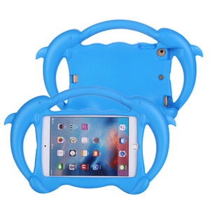 """Caso a prueba de golpes niños de espuma EVA Para Mini iPad 1 2 3 4 5 7.9"""" Mango lindo de dibujos animados 3D Dolphin soporte niños Back Cove"""