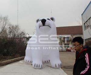 Gigante Bianco aerostato gonfiabile Polar Bear per City Parade Decoartion Event