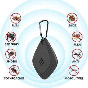 USB portátil Mosquito Eletrônico Repeller Keychain Mosquito Ultrasônico Assassino Mosca Inseto Bug Aranha Repelente De Pragas Para Casa Acampamento Ao Ar Livre