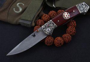 benchmade damascus tactical self defense plegable edc cuchillo camping cuchillo caza cuchillos regalo de navidad a2251 A1pa