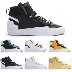 nike 2020 Sacai x Blazer Mid hombres LDV zapatos corrientes del camo de la marina de maíz negro lobo blanco Blazers gris clavada para hombre zapatillas de deporte de los formadores