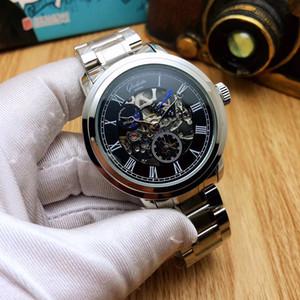 Solid cintura in acciaio quotidiana impermeabile orologi meccanici Super personalità completamente scavato tutti i sub quadranti lavoro Corsa Orologi Masculino