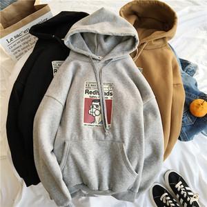 YouGeMan la camiseta Hembra otoño invierno Harajuku streetwear de la moda sudaderas con capucha de las mujeres de manga larga sudaderas Fleece Mujer