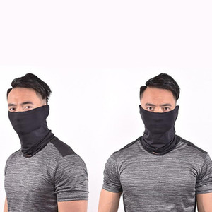 Unisexe Head Neck Gaiter visage Biker Tube Bandana Foulard Bonnet Cap Motorcycle Masque Ice soie Foulards
