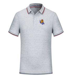 Reale Sociedad squadra di calcio dei Nuovi Uomini T-shirt Abbigliamento Golf Polo T - Shirt Manica Corta Da Uomo Polo Basket T shirt