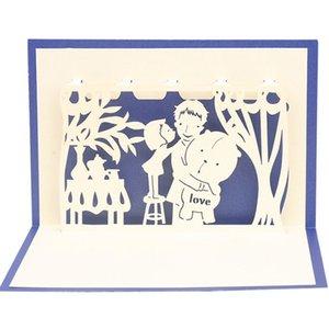 Creative 3D LOVE Greeting Card Best Super Dad Father's Day Gift Enhorabuena Decoración Suministros Envío gratis