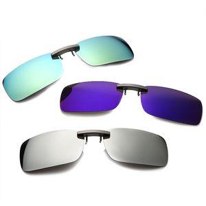Rompin unisexe lunettes de soleil de pêche clip polarisants Day Night Vision Clips Easy Clip sur Flip-up Pêche au volant Objectif Lunettes