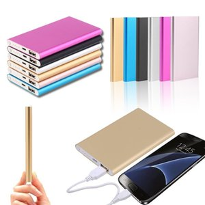Ultra Slim Portable Power Bank batteries Powerbank For Note 10 Plus External Battery Charger Backup 18650 power bank With Package