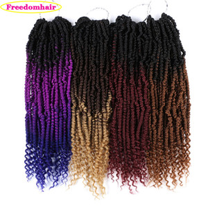 Twists Passion Spring Twists Synthetic Bomb Twist Hair Extensions 70g / pc Ombre Crochet Braids Pre looped Fluffy Braiding Hair