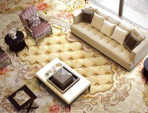 Пользовательские 3d напольная плитка Euporean pattern 3d-floor-wallpaper пвх самоклеющиеся обои 3d пол для гостиной