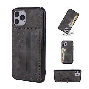 PU кожаный чехол для телефона iPhone SE 2020 11 pro xs max 7 8 plus со встроенной подставкой бумажник чехол для Samsung