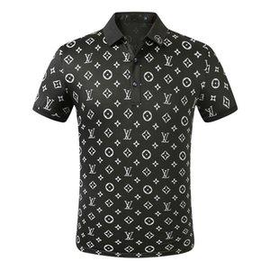 FF Nouveau Designer Polo Chemises Hommes De luxe Polo Casual Hommes Polo T shirt Serpent abeille Lettre Imprimer Broderie De Mode High Street Hommes Polos