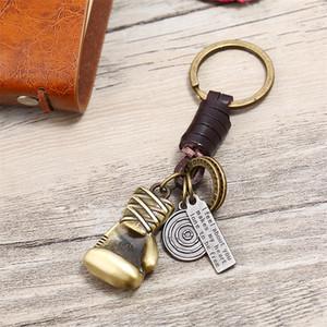 Luva de boxe chave chaveiro retrô bronze eu sinto sobre você inspirou chaveiros mulheres homens moda jóias de jóias
