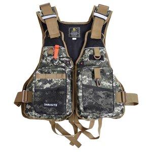 사냥 재킷 휴대용 야외 스포츠 낚시 구명 조끼 통기성 수영복 항해 재킷 안전 양복 조끼 서바이벌 유틸리티