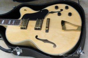 Personalizado L5 Jazz 335 Duplo F Buraco acústico do corpo oco guitarra elétrica Natrual