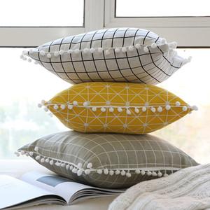 وسادة تغطي هندسية وسادة غطاء القطن الكتان ساحة سادة غطاء وسادة الرئيسية مكتب أريكة سيارة الديكور WX9-1266