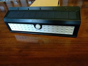 JOVARO Güneş Güvenlik Işıklar Sundurma Bahçe Yolu için 3 Modlar Hareket Sensörü Işıklar 44 LED Flood Işıklar Açık Spot IP65 su geçirmez