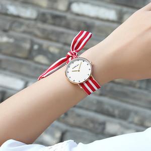 CRRJU новый уникальный Ladies цветок ткань наручные часы моды платье женщин смотреть высокое качество ткани часы сладкие девушки браслет часы