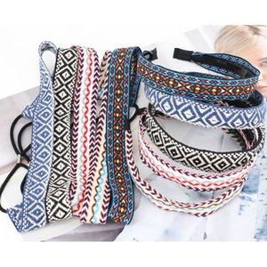 Atacado fita étnico amantes fina e macia bordado Headwear para mulheres Boa Qualidade Elastic antiderrapante Yoga Acessórios de cabelo Praia