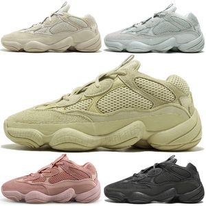 con estuche Kanye West 500 Desert Rat Blush 500s Salt Super Moon Yellow Utility Negro para hombre zapatillas deportivas para hombre mujer deportes zapatillas deportivas