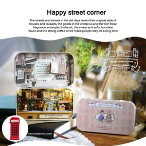 Box Theater Style Dollhouse Miniature Toy DIY Wooden Doll House With Furniture LED Light Toys For Children Birthday Gift