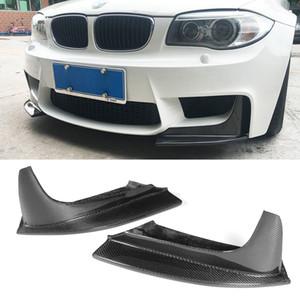 Para BMW Serie 1 M parachoques Sólo 2011-2016 fibra de carbono frente auto Splitter labio Flap Cupwings secundarios Delantales