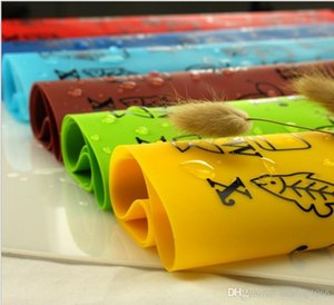 Children Graffiti Mat Cartoon Animal Silicone Coaster Multi Color Tableware Pad Easy To Clean Kitchen Supplies 7ds T