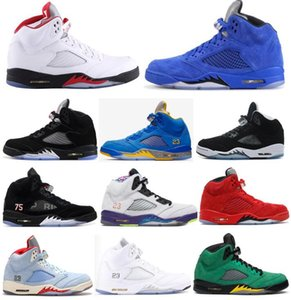 2020 Red Blue Suede Laney Fire Red Varsity Royal Paris Hommes Basketball Chaussures 5 Oregon Ducks Oreo Olympic Metallic Silver Sneakers avec la boîte