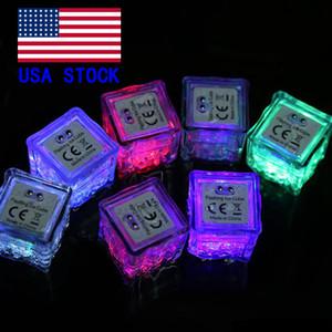 cube flash LED RGB lumières Glaçons lumières LED submersible Détecteur d'eau liquide flash Bar Light Up Club de soirée de mariage