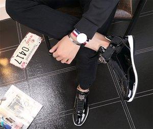 2019 Дешевые корейский модный модельер обуви сек серебро золото черный блестящий яркий стильный г-красный ковер предпочтительным качество обуви