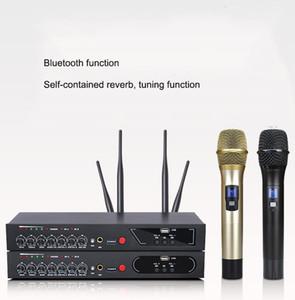 Sistema per microfono wireless MU-6S spedizione gratuita Ufficio UHF Handheld doppio BT PA Mic Pubblico Per Audio Speaker Microfono Ricevitore