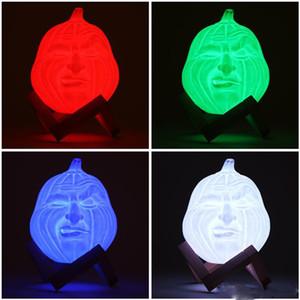 새로운 USB LED 마법의 3D 인쇄 테이블 밤 빛 얼굴 모양 호박 빛 RGB 책상 램프 원격 제어 할로윈 장식 선물