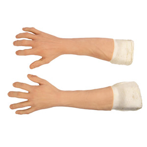 Highly Simulated Human Skin Fake Silicone Prosthesis Foot Sleeve Legging Cover Scars Protect Injured Skin Customizable Color