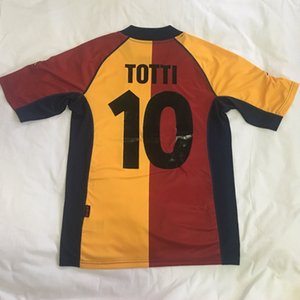 2001 RETRO 2002 camiseta de fútbol roma 01 02 Inicio TOTTI BATISTUTA Candela Montella camisa clásica conmemorar roma calidad de Tailandia maglia maglie