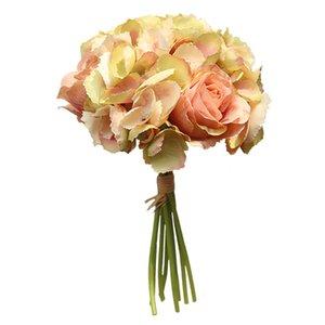 محاكاة زهرة روز كوبية باقة الرئيسية الديكور زفاف زهرة العروس روز باقة الطريق الرائدة الجدار وهمية زهرة