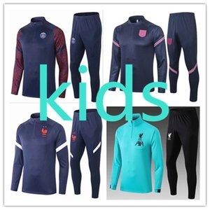 kids france ajax 2020 2021 psg  soccer football tracksuit  training camisetas de madrid real  england juventus liverpool tracksuits barcelona