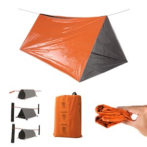 Outdoor Tent Outdoor Shelter Emergency Tube Tent Survival Orange Shelter Rescue Camping Tent Aluminum Film Sleeping Bag